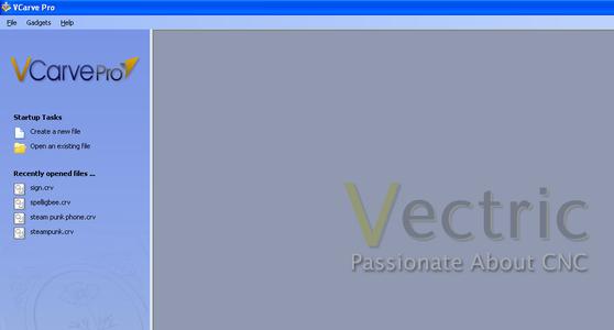Using Vcarve