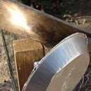 Pie Tin Solar Reflector