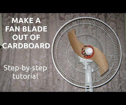 Cardboard fan blade