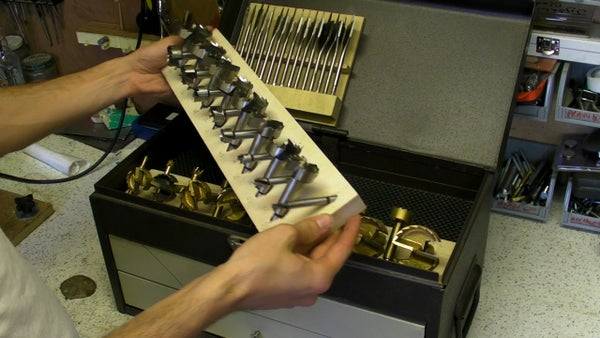 Fitting Bits Into Tool Chest (router, Flat and Forstner Bit Holders)