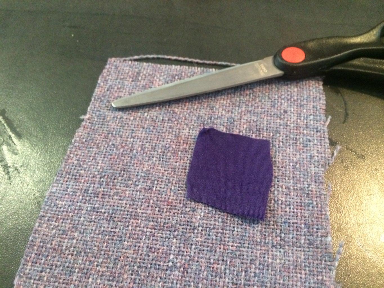 Cut Fabric, Mark Pocket and LED