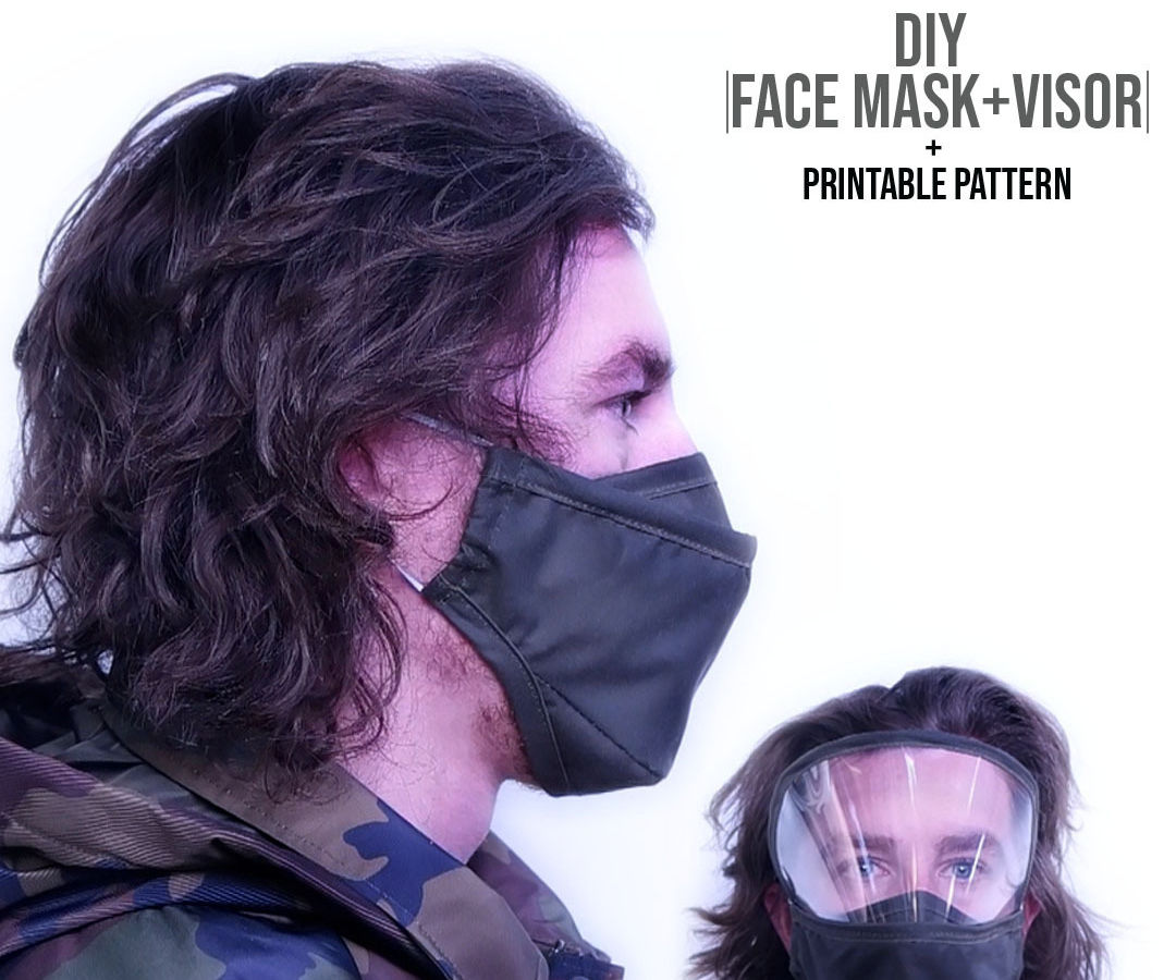 Face Mask + Eye Guard With Tie Back Option