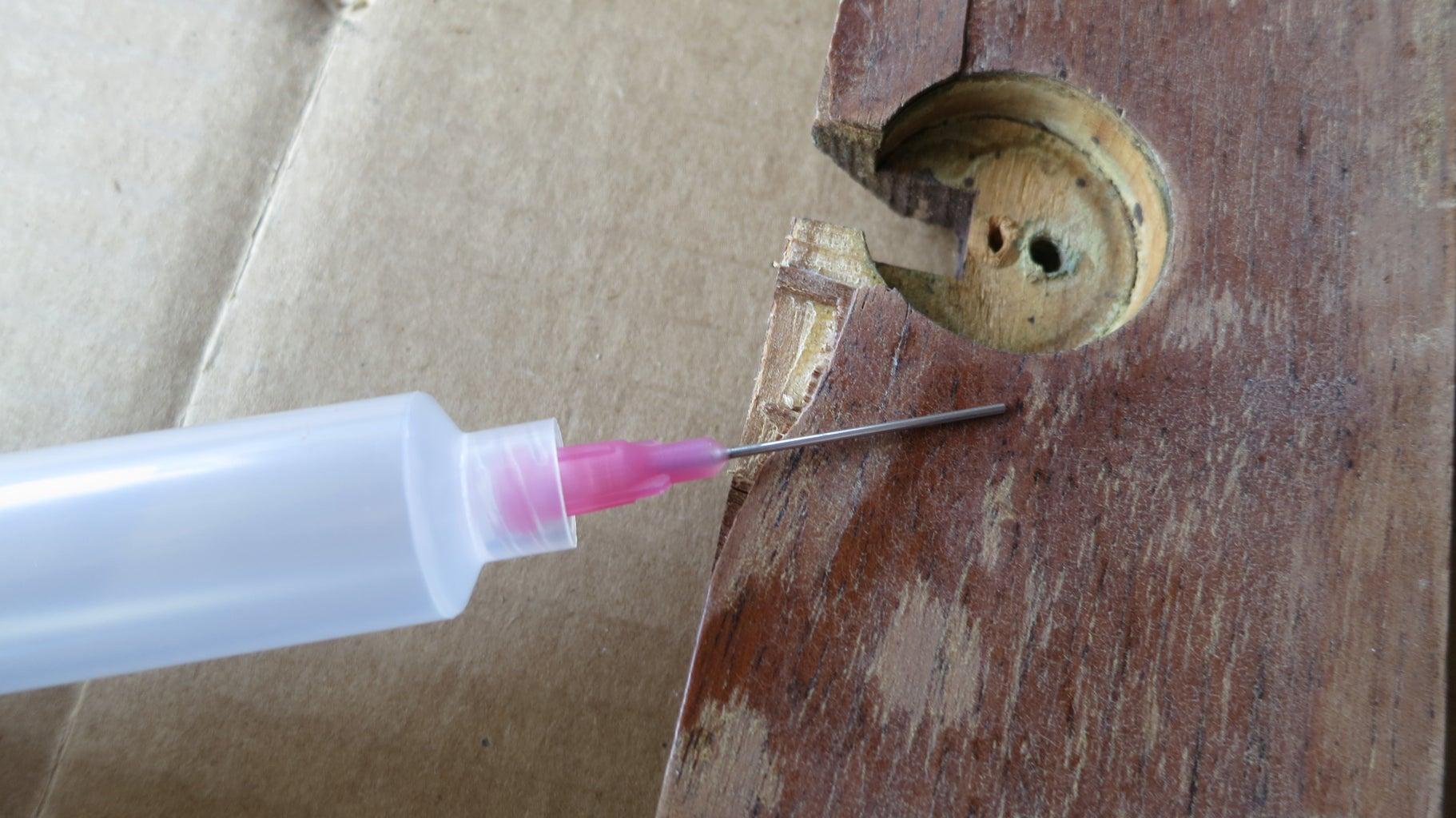 Glue Veneer With a Syringe