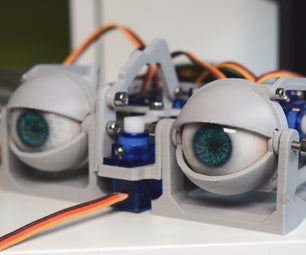 Simplified 3D Printed Animatronic Dual Eye Mechanism