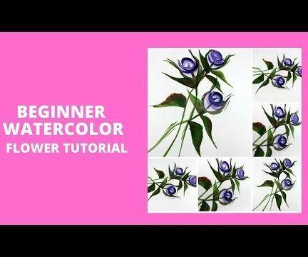 BEGINNER WATERCOLOR FLOWER TUTORIAL