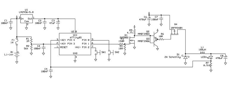 Circuit and PCB Toner Transfer Image