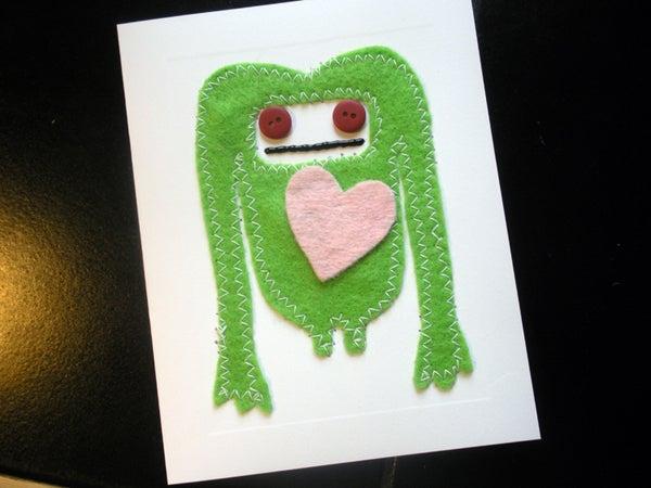 Felt Monster Valentine