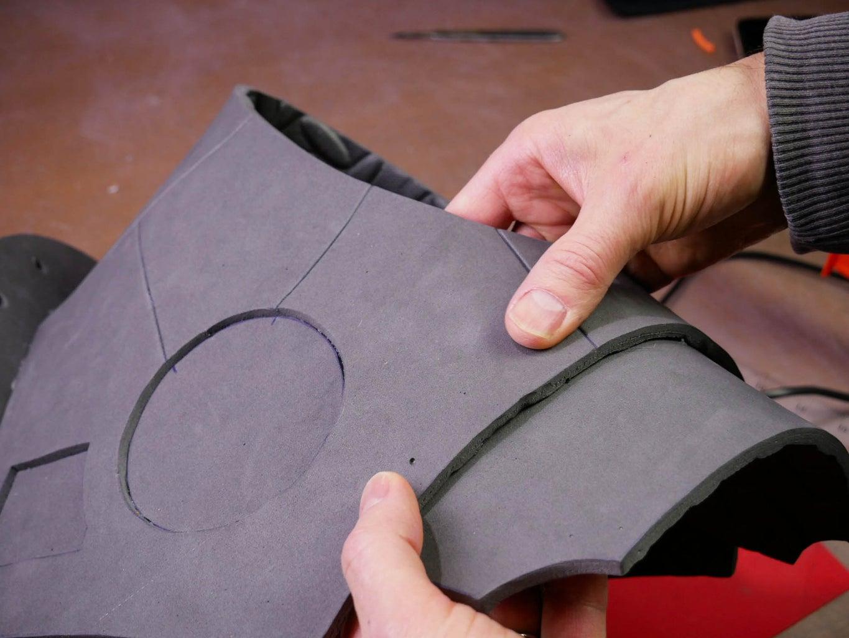 Glue the Lower Torso Piece