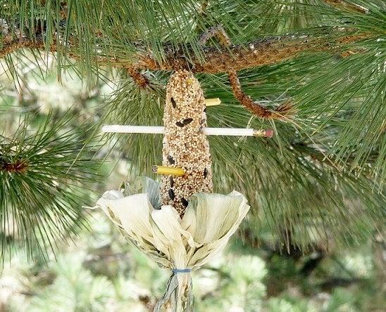 Corn Cob Bird Feeder... With Office Supplies
