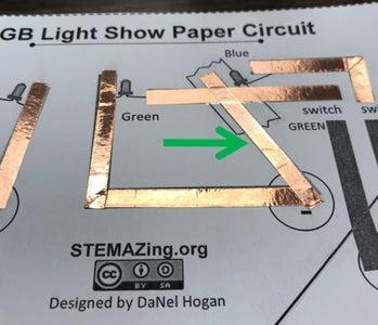 Putting Copper Foil Tape Over Top Transparent Tape.