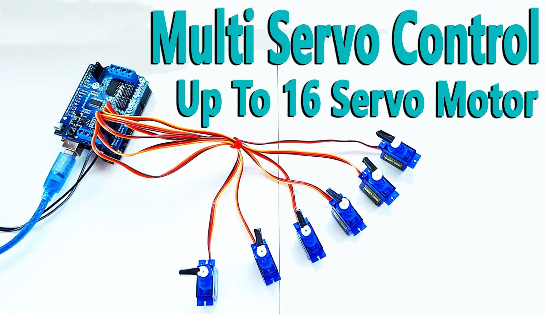 Arduino - Multi Servo Control Up to 16 With Arduino