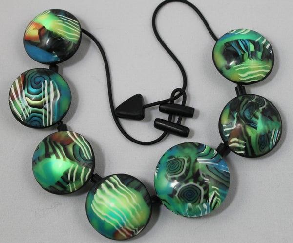 Illuminated Polymer Clay Necklace