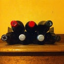 Discreet Adjustable Wine Rack from Book Ends