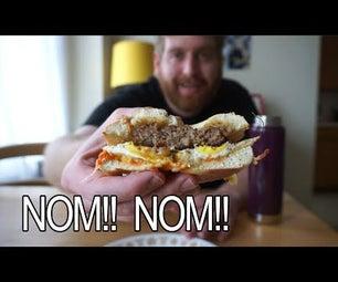 Spicy Bagel Breakfast Sandwich