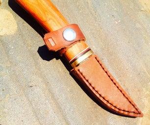 Make an Easy Leather Knife Sheath