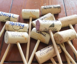 Wine Cork Plant Markers
