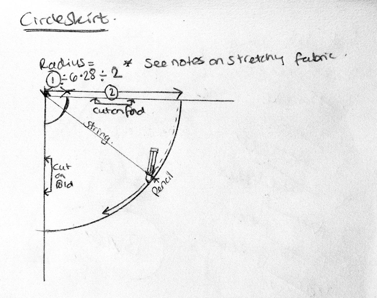 Pattern Piece 1: Circle Skirt