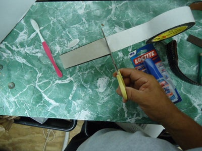 Measure and Cut the Two Side Tape