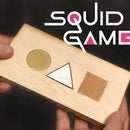 DIY Wooden Squid Game Business Invitation Card