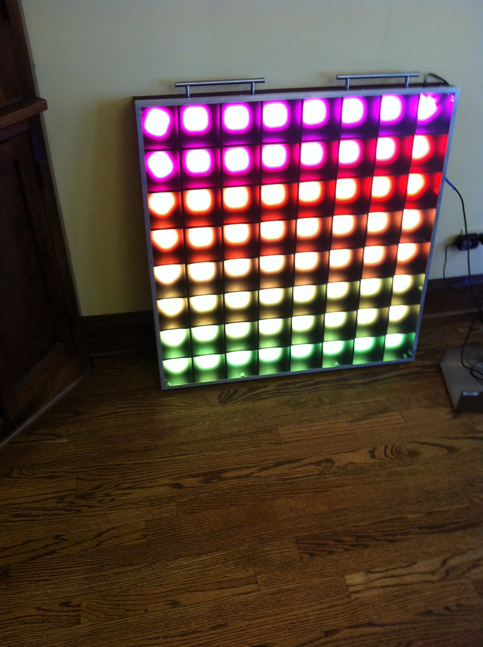 PixelLux- A 64 Pixel RGB LED Video Screen