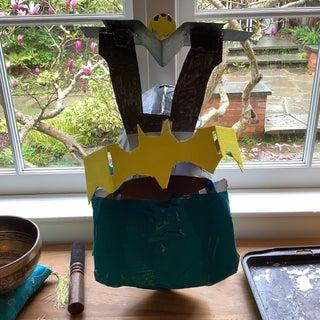 Cardboard Batman Samurai Helmet