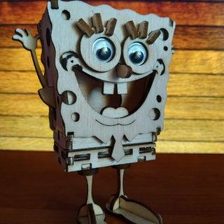 Laser Cut a Wooden Spongebob Model