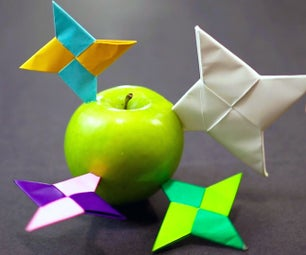 How to Make a Paper Ninja Star / Shuriken (Easy Origami)!