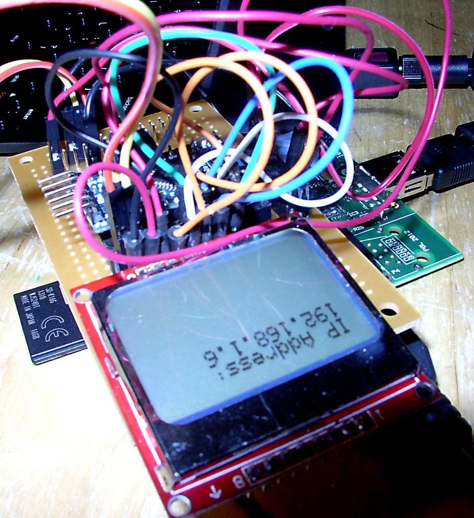 Software, Part 3: Pi IP Address on Nokia Display
