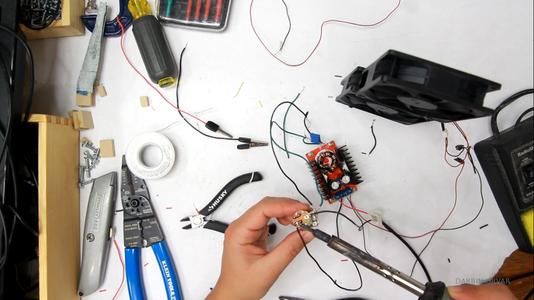 Trimming Wires, Soldering, Filter