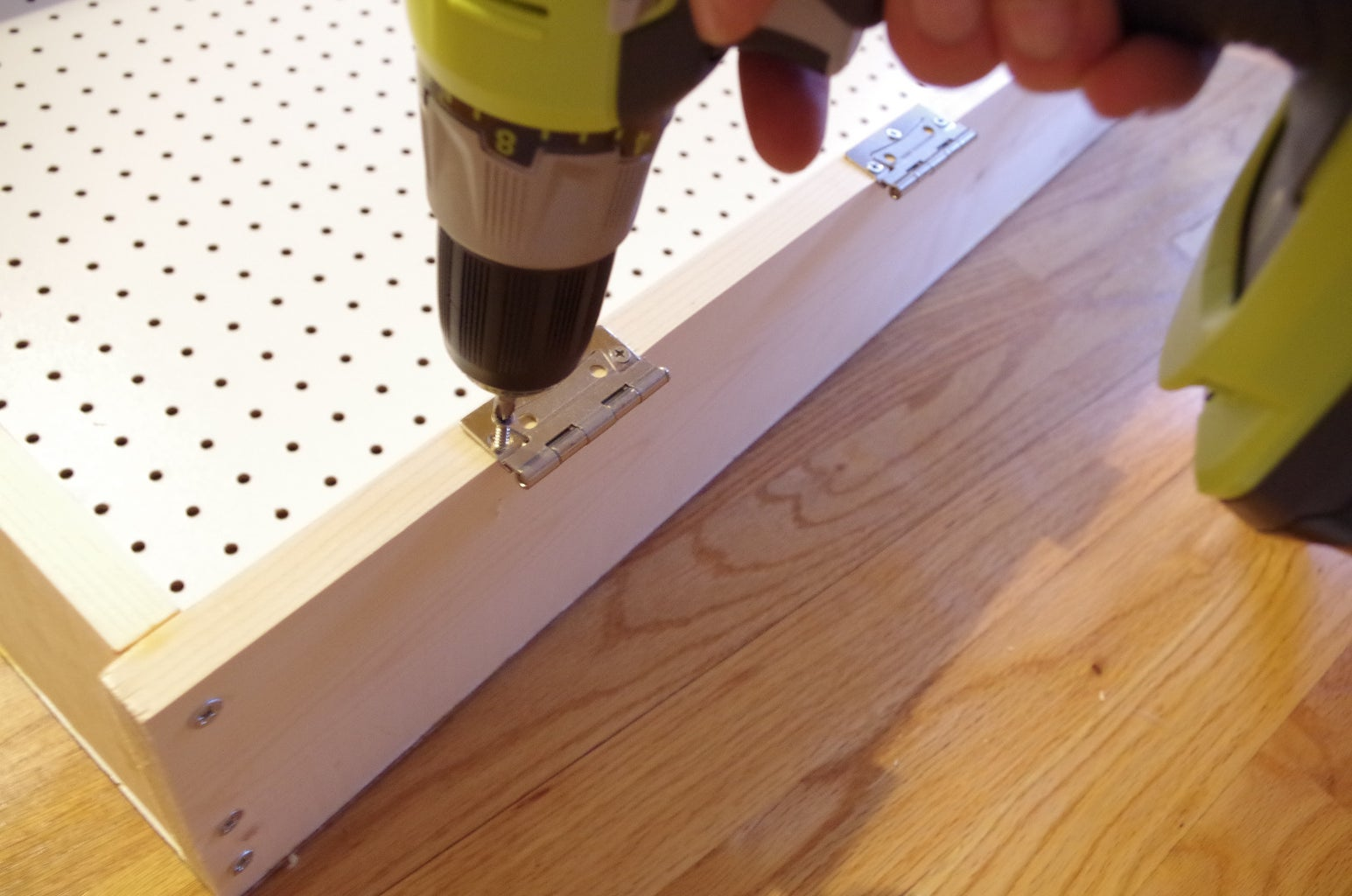 Attaching the Hinges and Catch