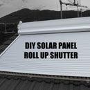 DIY solar panel roll up shutter (solar curtain, tapparella solare)