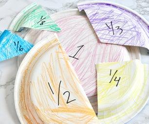 Paper Plate Fractions - Math Manipulative