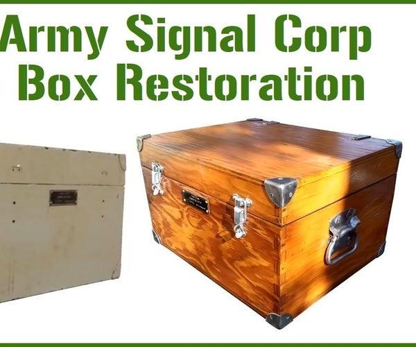Army Signal Core Box Restoration
