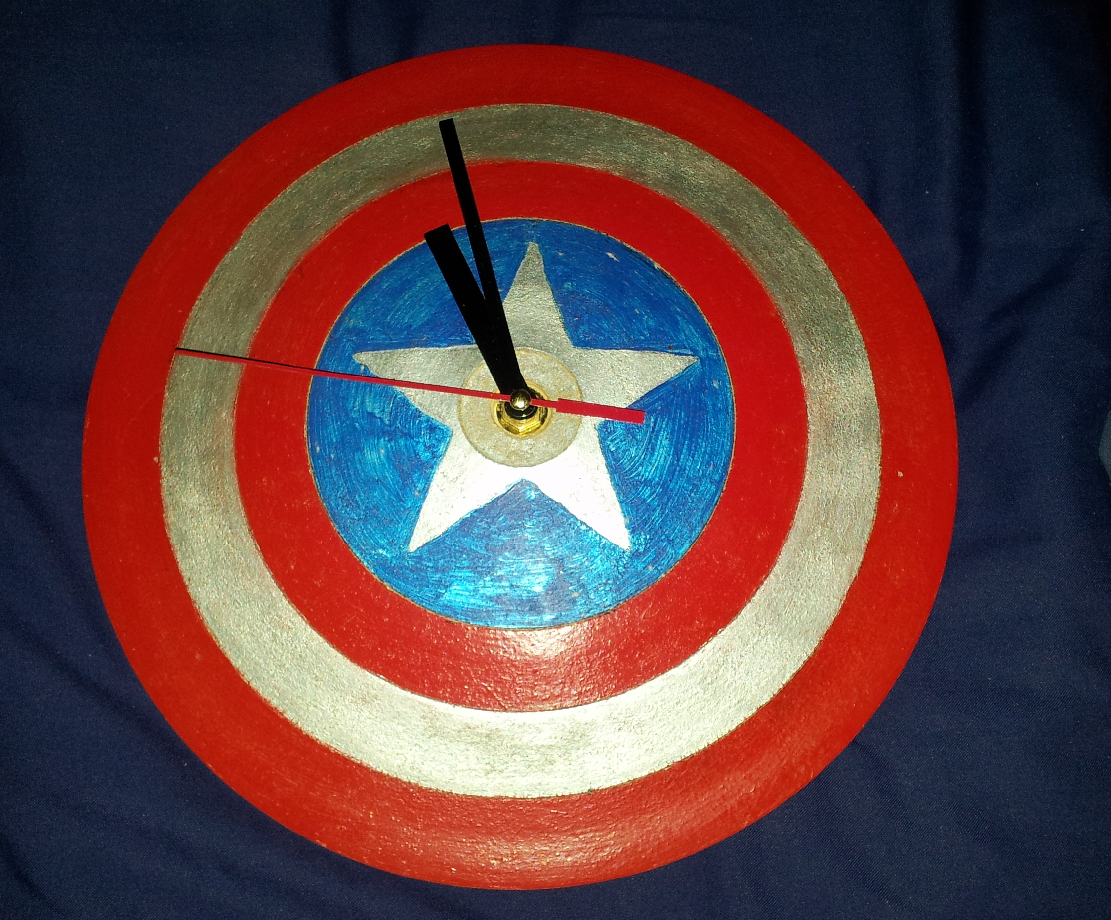 Captain America Shield Clock