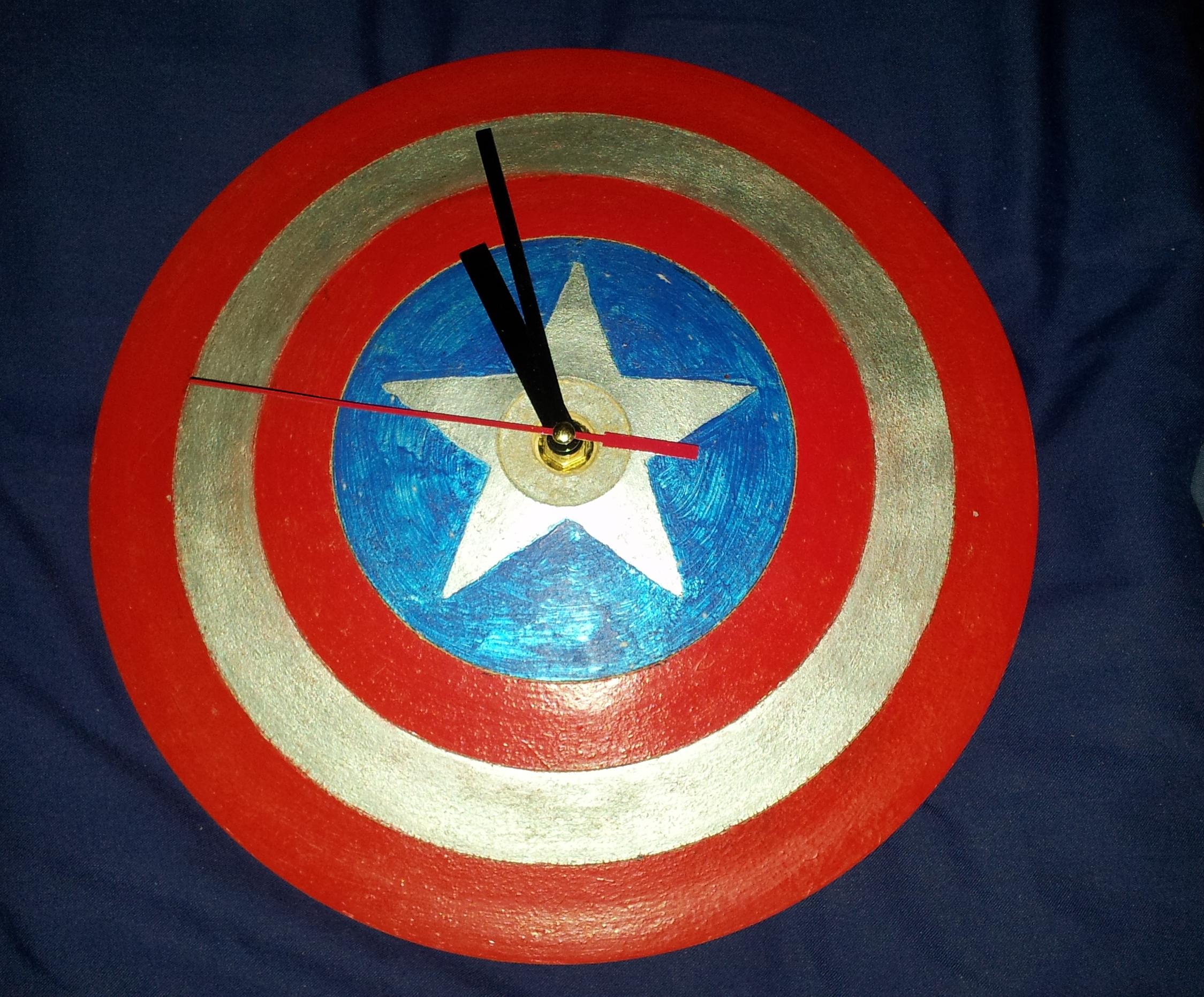 Captain America Shield Clock