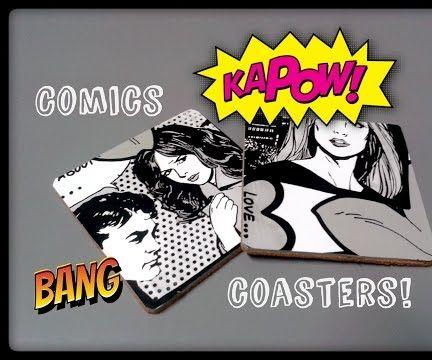 Easy DIY Comic Coasters