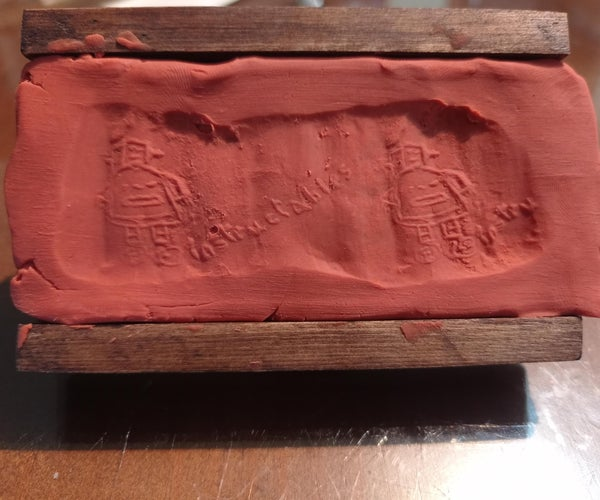 Ancient Writing. a Cylindrical Stone Seal