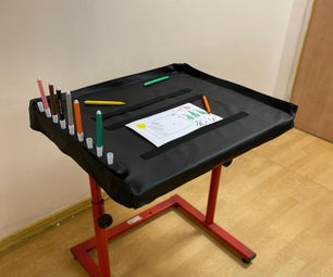 How to Make a Drawing Station for One Hand