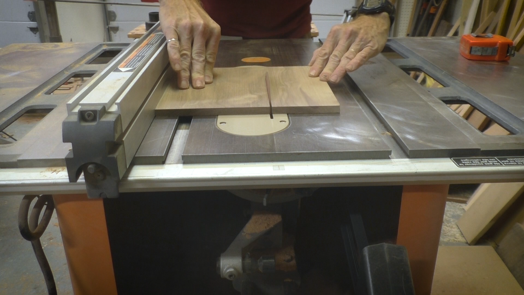 Cut the Walnut for the Tray