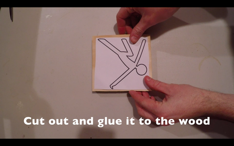 Glue the Climber Schematic to the Plywood
