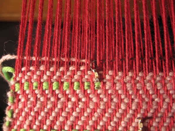 Weaving: Clasped Weft With LEDs