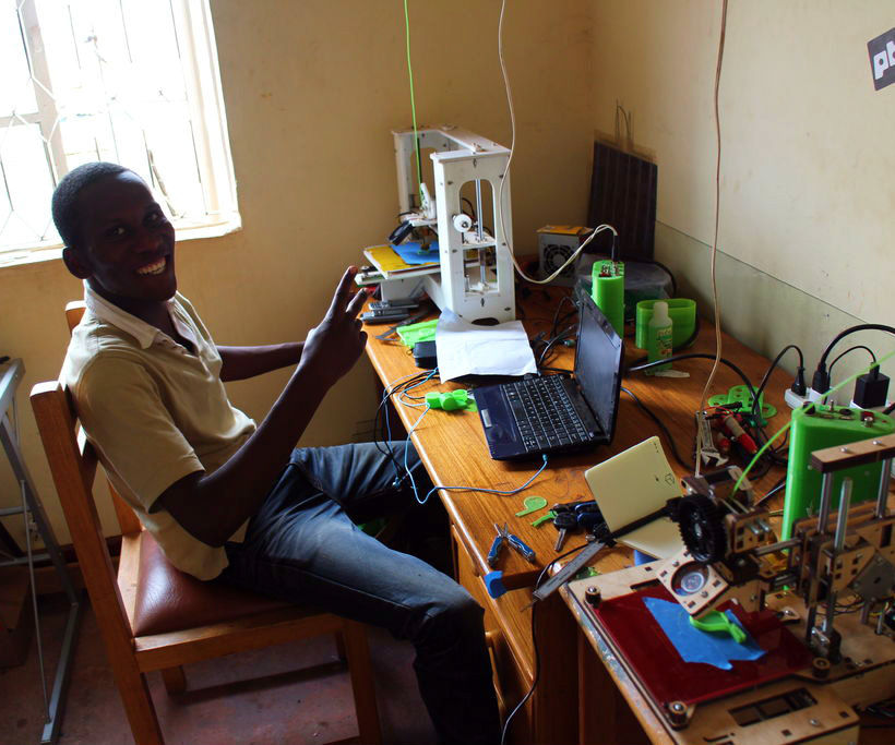 Maintaining a small-scale 3D printing facility in Uganda