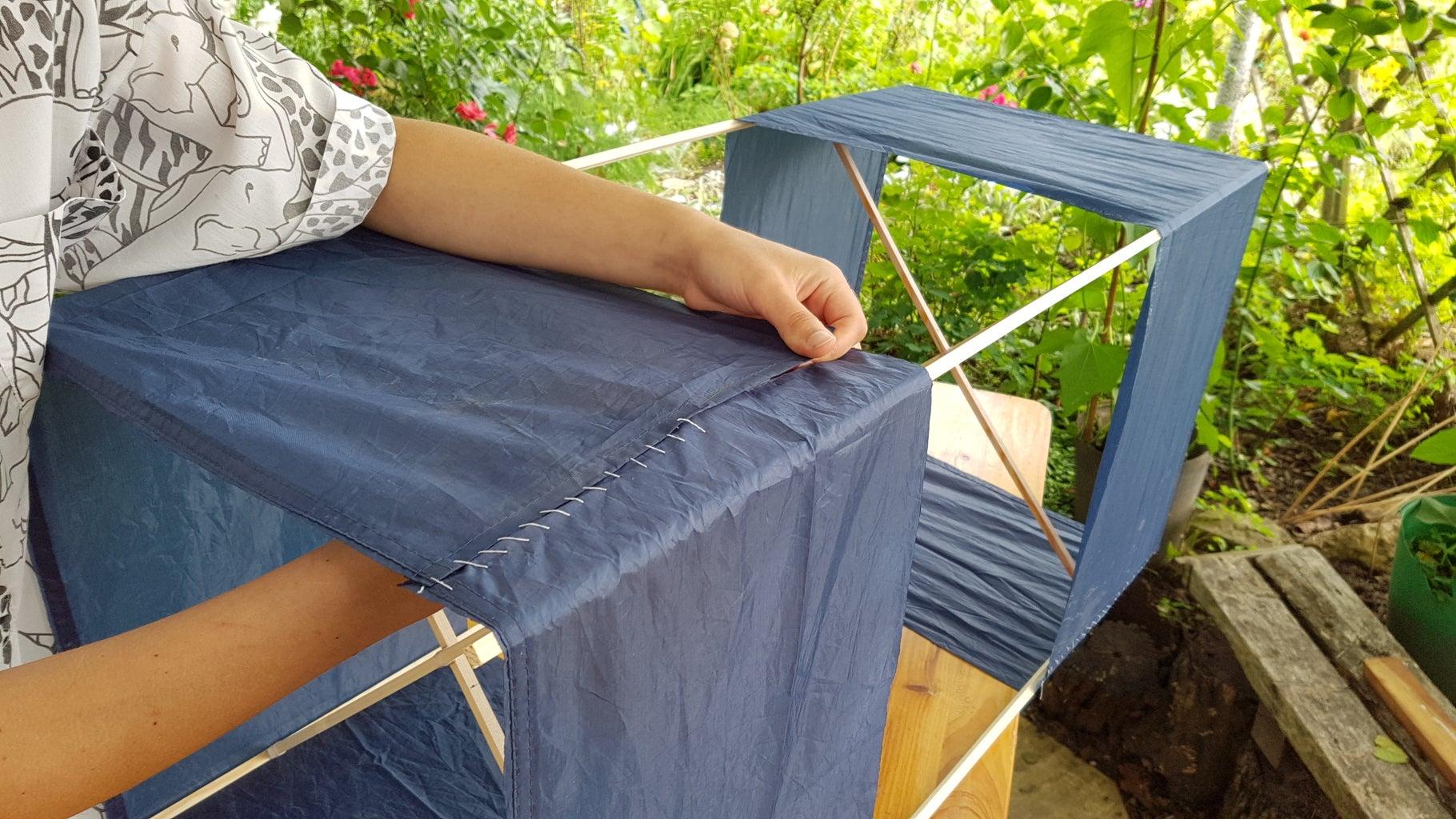 Stitch the Fabric Around the Frame