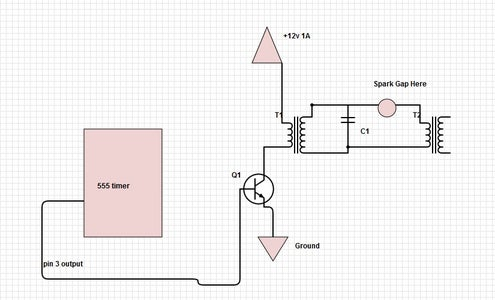 Output of Flyback/tesla Coil Driver
