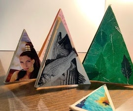 TRIANGLE BOOK From One Sheet of Paper