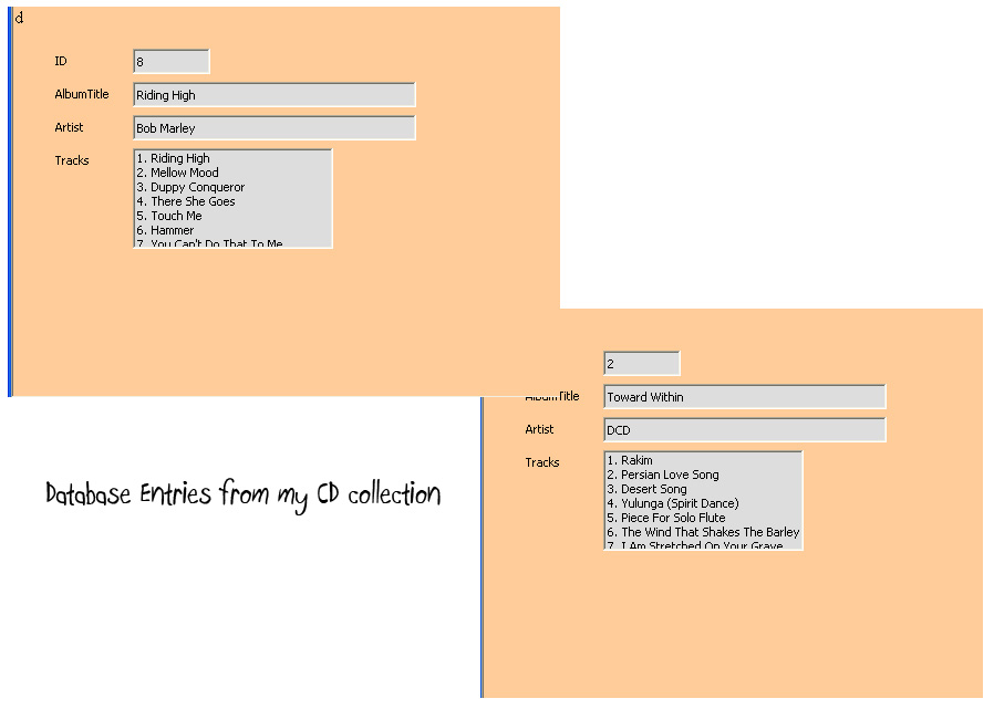 Make a Database in Open office