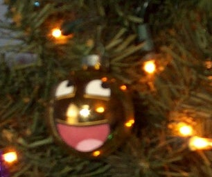 How to Make an Awesome Face Christmas Ornament