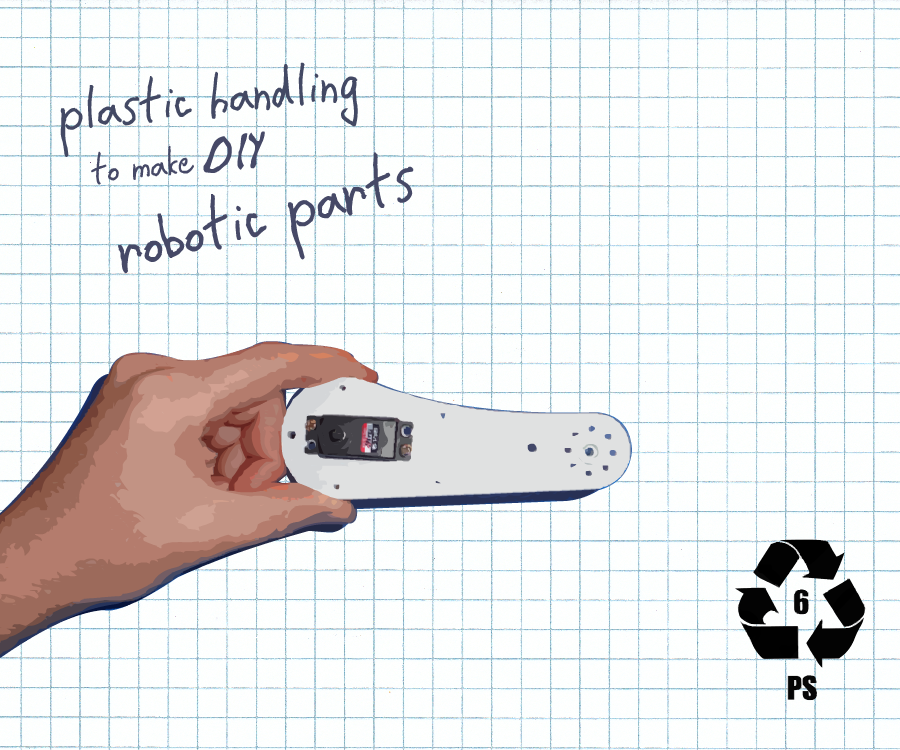 Plastic handling to make DIY robotic parts