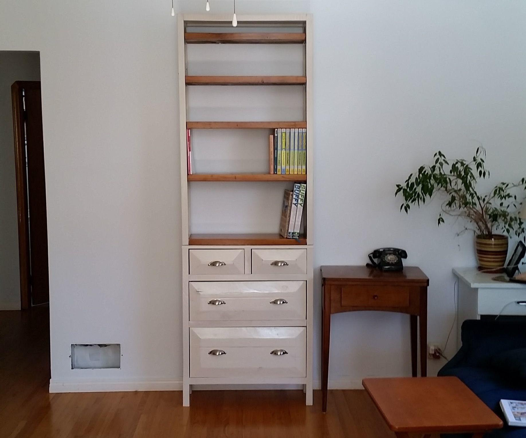 Rustic Tall Wood Bookshelf (with Blunders)