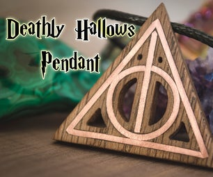 Deathly Hallows Pendant With Copper Inlay